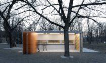 Pavilon s občerstvením na výstavišti v Holešovicích