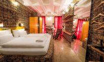 Hotelové pokoje ze slámy ve Vídni od Heri & Salli