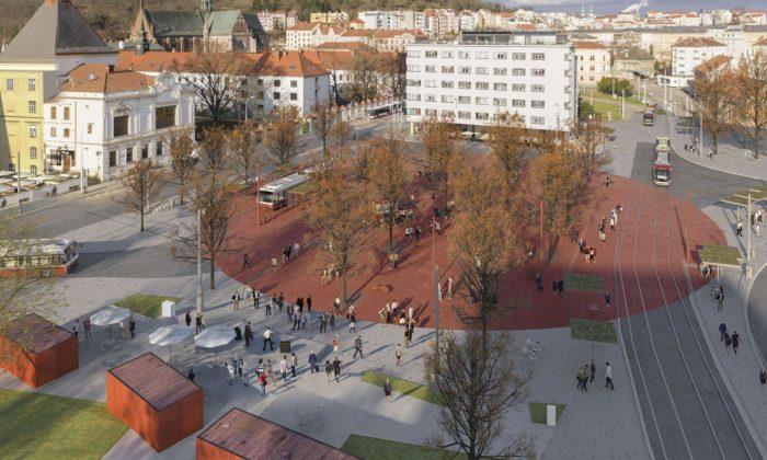 Mendelovo náměstí vBrně dostane červenou tečku aspeciálně vyšlechtěné stromy
