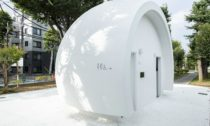Veřejná toaleta v Tokiu v Nanago Dori Park