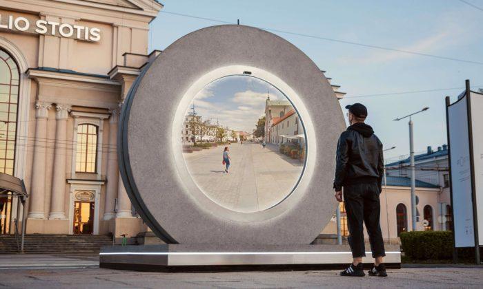 Mezi prvními dvěma městy Vilnius aLublin vznikl futuristický Portal