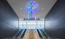Světelná instalace Crystal Swell od Preciosa Lighting