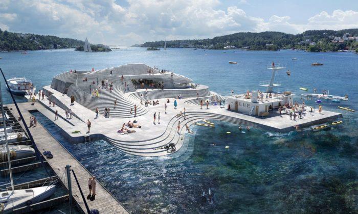 V Norsku obnoví arozšíří přístavní lázně Knubben navržené ve30.letech