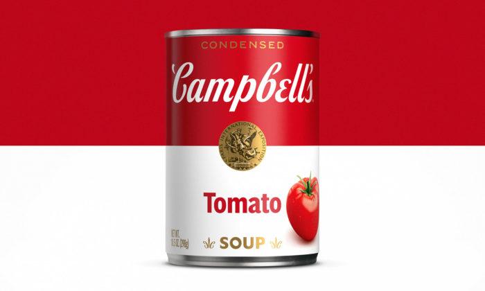 Ikonické plechovky polévek Campbell's mají nové logo adesign obalů