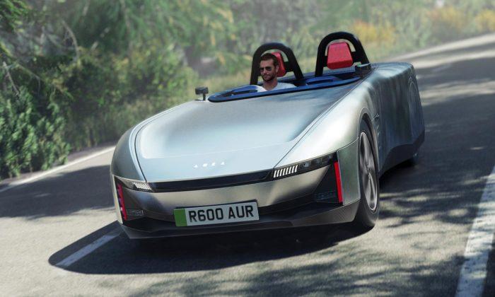 Britský sporťák Aura zaujme designem ispeciálním volantem stachometrem