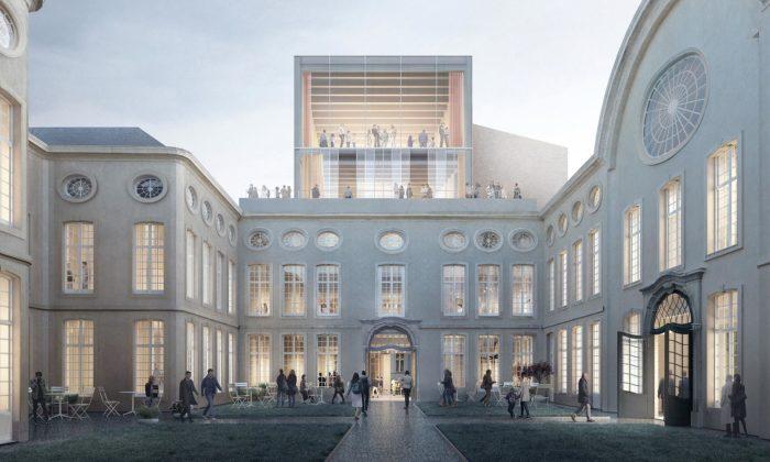 Design Museum Gent serozšíří onové křídlo smonolitickým designem