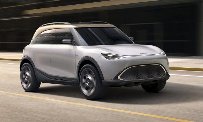 Smart zcela mění design apřekvapuje futuristickou vizí Concept 1
