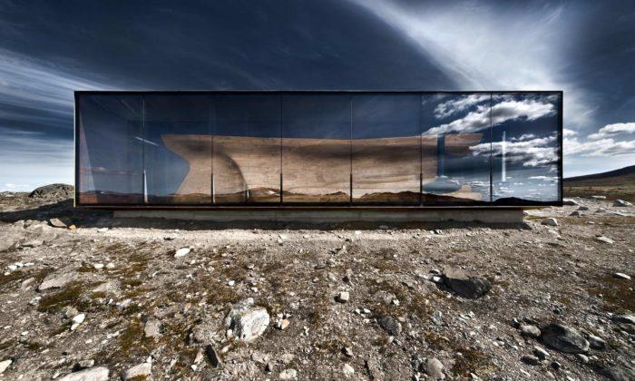 Ateliér Snøhetta vystavuje vPraze svou architekturu pro Skandinávii iAlpy