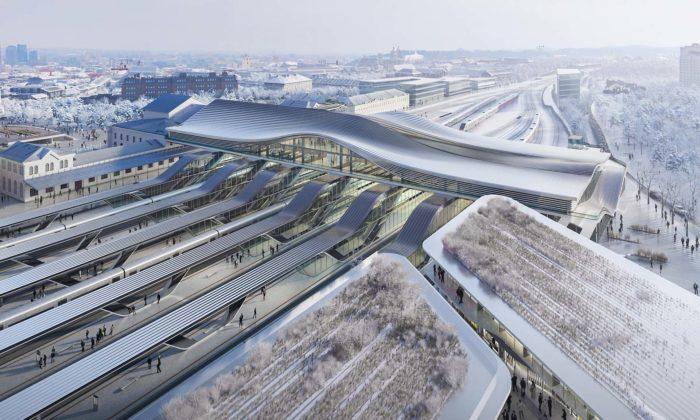 Zaha Hadid Architects navrhli pro Vilnius proměnu historického vlakového nádraží