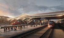 Vlakové nádraží Vilnius od Zaha Hadid Architects