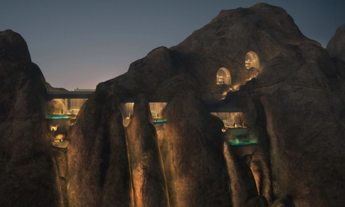 V horách vSaúdské Arábii staví resort Desert Rock zapuštěný doskalních masivů