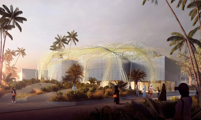 V Dubaji seotevírá světová výstava Expo sčeským pavilonem zdobeným Mrakem