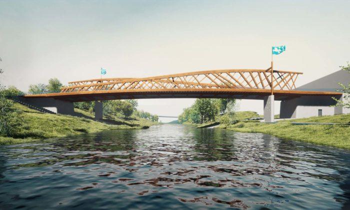 Roman Koucký navrhl nový most pro Ostravu nezvykle vybavený plamennými chrliči