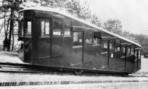 Historické fotografie lanovky na Petřín