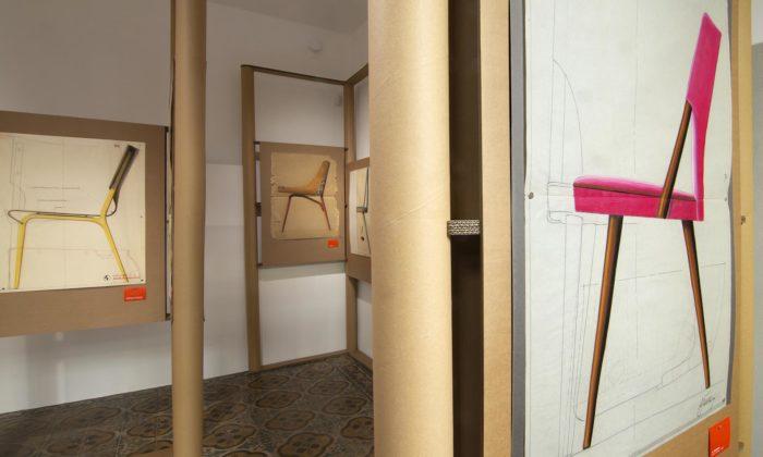 Praha vystavuje ručně kreslené nábytkářské výkresy zarchivu značky Ton