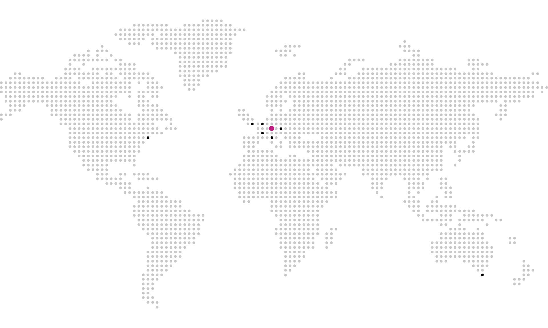 Mapa redaktorů on-line magazínu DesignMag.cz