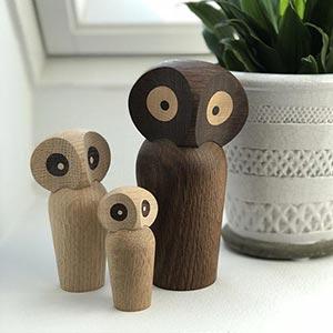 Ručně vyrobené dřevěné sošky z Dánska