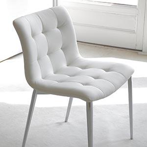 Čalouněná široká židle Kuga od Bontempi Casa