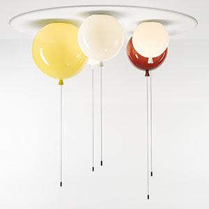Set českých svítících skleněných balónků Memory