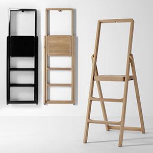 Minimalistické dřevěné schůdky Step