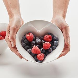 Česká miska Srdce s ukrytým srdečním tvarem